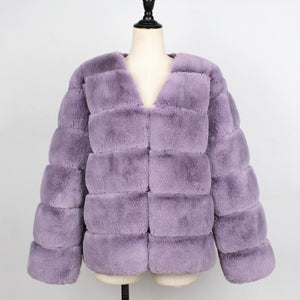 Vintage Fluffy Faux Fur Coat