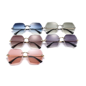 Geometric Frameless Sunglasses