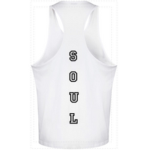 Load image into Gallery viewer, MENS - LOST SOUL - RACER GYM VEST - WHITE