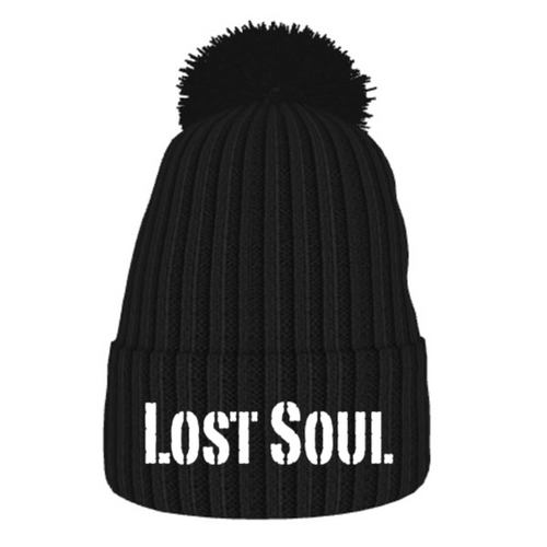 LOST SOUL Ribbed Bobble Hat
