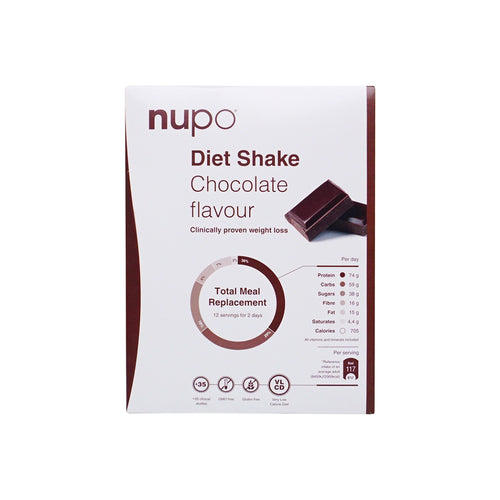 Nupo Diet Shake Chocolate 12pcs - Scandea O2O