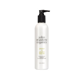 John Masters Geranium & Grapefruit Body Milk 236 ml - Scandea O2O
