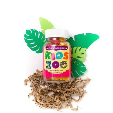 Kids Zoo Kalk+ D-Vitamin 60 stk. - Scandea O2O