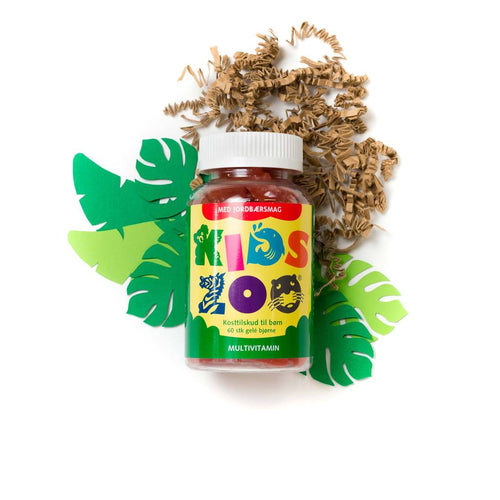 Kids Zoo Multivitamin Jordbær 60 stk. - Scandea O2O