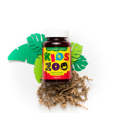 Kids Zoo Vegetabilsk Multivitamin + Mineraler 60 stk. - Scandea O2O