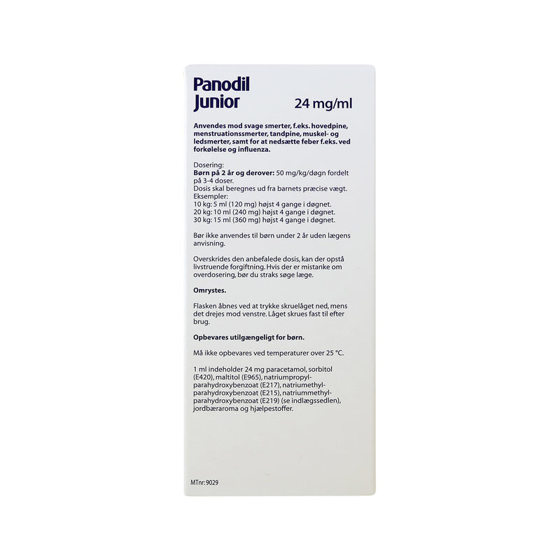 Panodil Junior 24 mg/ml oral suspension 200 ml - Scandea O2O