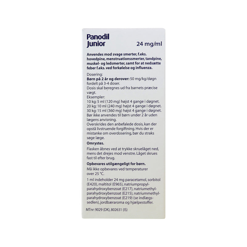 Panodil Junior 24 mg/ml oral suspension 60 ml - Scandea O2O