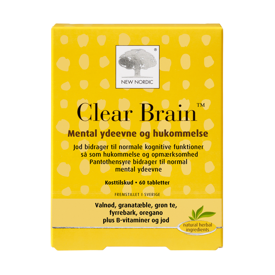 New Nordic Clear Brain 60 tabl. - Scandea O2O