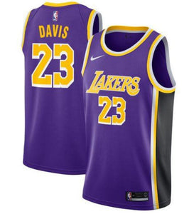 quality design 012e1 085d3 Nike Los Angeles Lakers #23 Anthony Davis Basketball Jersey Purple Fan  Edition