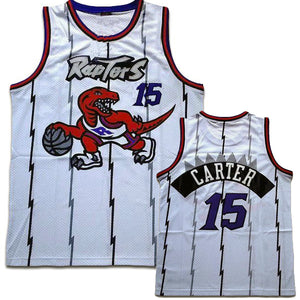 classic fit d5057 cde0c Nike Toronto Raptors #15 Vince Carter Throwback Jersey Purple & White