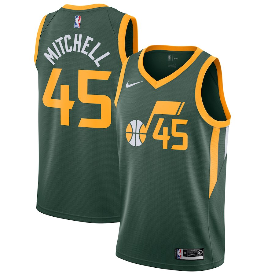 sports shoes 56944 d6e1c Nike Utah Jazz #45 Donovan Mitchell Basketball Jersey - Earned Edition