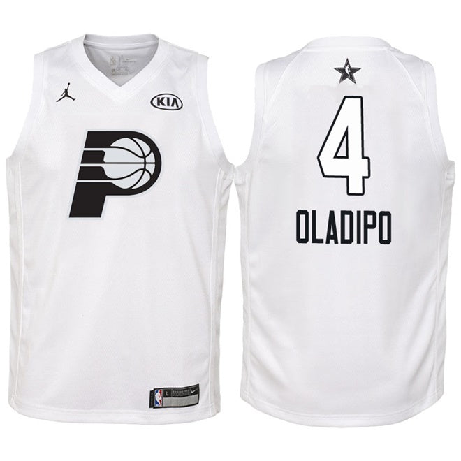 new style 02119 8e161 NBA All-Star Game Indiana Pacers #4 Victor Oladipo Swingman Jersey