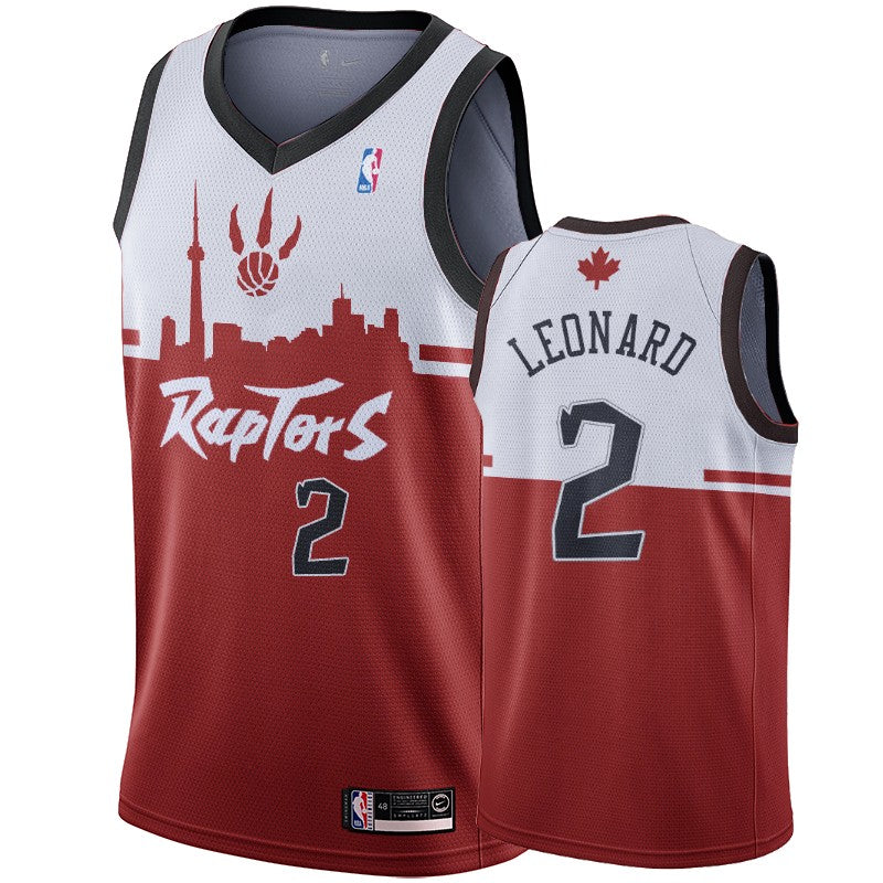 new styles 72039 6d8c2 Toronto Raptors Kawhi Leonard #2 Hometown Collection Red White Jersey