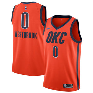 new concept 8deea aa8fb Nike Oklahoma City Thunder #0 Russell Westbrook Basketball Jersey - Earned  Edition