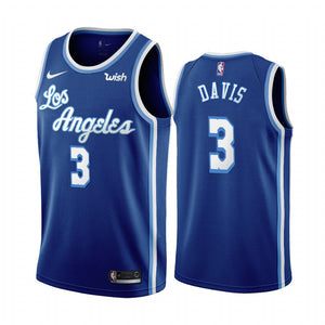 info for fdd87 852fd Nike Los Angeles Lakers #3 Anthony Davis Blue 2019-20 Classic Edition Jersey
