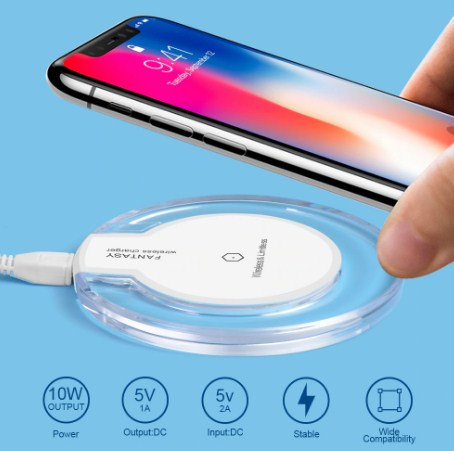 Universal Wireless Charger + Receiver (For the first time ever Charge any phone Wirelessly)