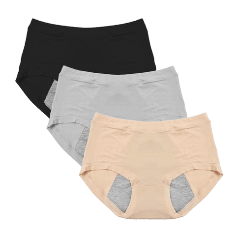 Image of (Pack of 3) Leak-Proof Period Panties - Protective Panties