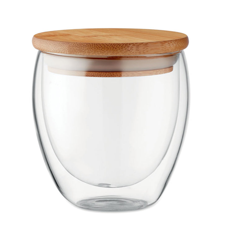 Double Wall Bamboo Glass 250ml