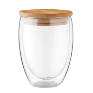 Double Wall Bamboo Glass 350ml