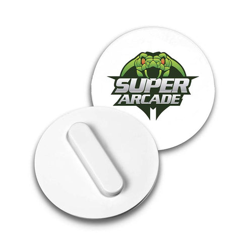 75mm Clip Badge (White)