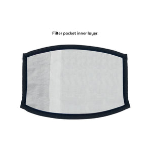 3 Layer Face Mask with Pocket & Filter
