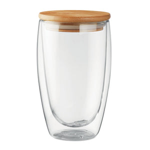 Double Wall Bamboo Glass 450ml