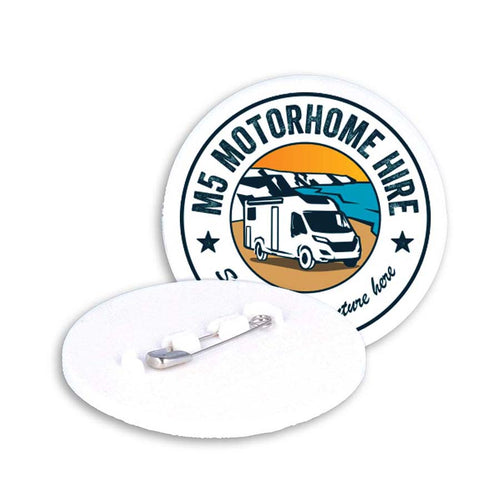 55mm Pin Badge (White)