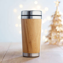 Load image into Gallery viewer, Bamboo Steel Travel Mug