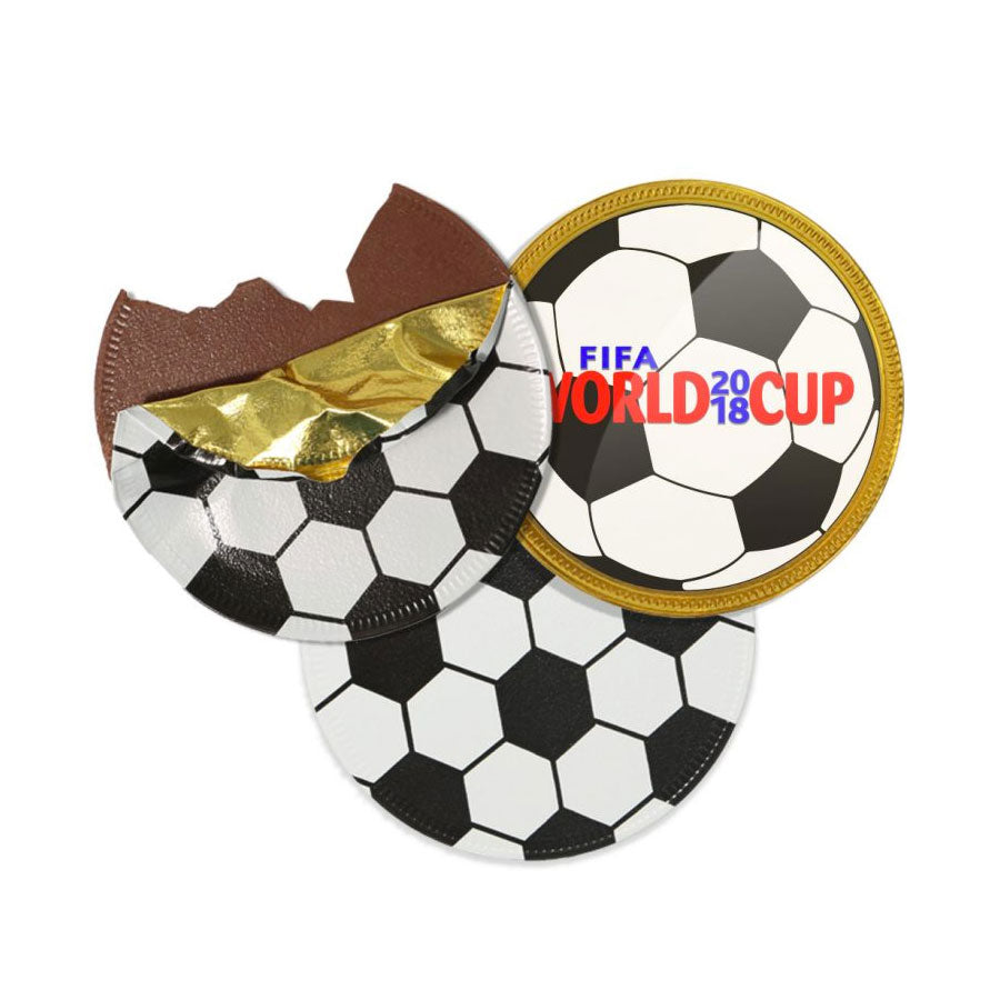 Chocolate Medallion Football Coin
