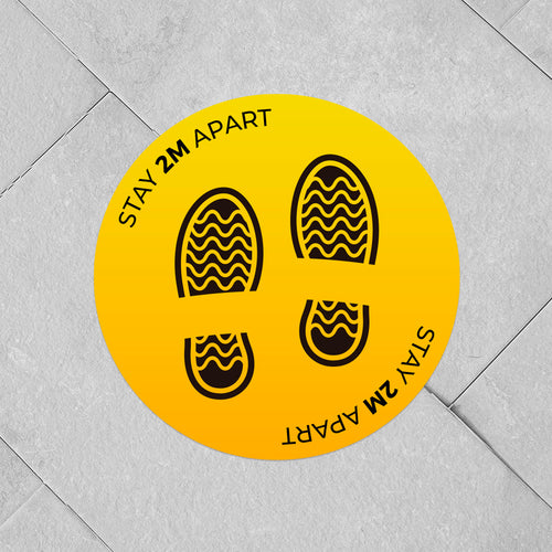 Circular Vinyl Floor Stickers 300mm