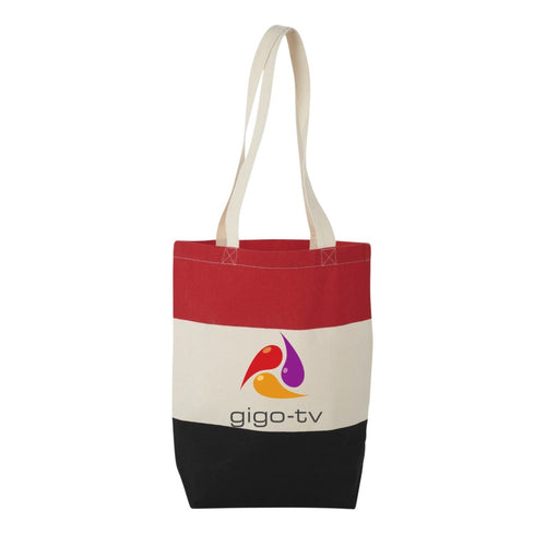 Colour Block Cotton Tote Bag