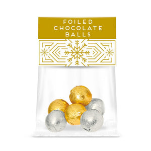 Foiled Chocolate Balls Eco Info Card