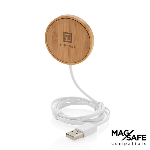 MagSafe Compatible Bamboo 10W Wireless Charger