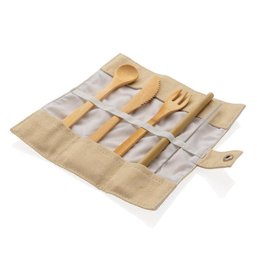 Reusable Bamboo Travel Cutlery Set