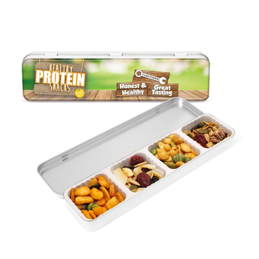 Healthy Protein Snacks Slim Tin