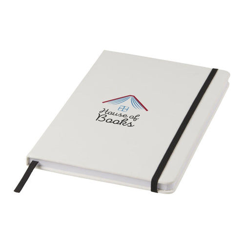 White A5 Spectrum Coloured Strap Notebook