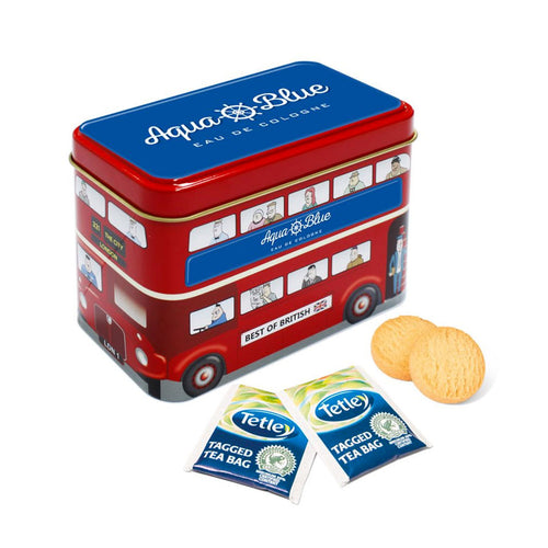 Tea & Biscuits Bus Tin
