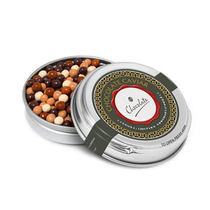 Silver Caviar Tin - Chocolate Pearls