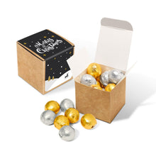 Load image into Gallery viewer, Foiled Chocolate Balls Eco Kraft Cube