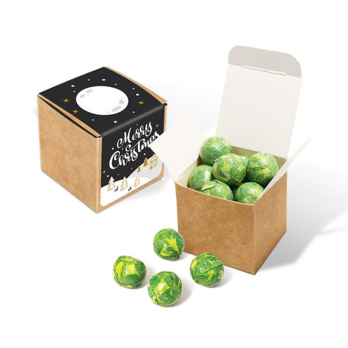 Eco Kraft Cube - Chocolate Sprouts