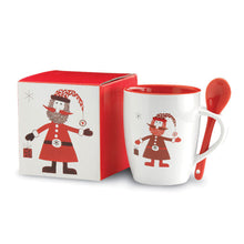 Load image into Gallery viewer, Christmas Mug With Spoon