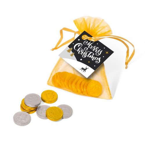 Chocolate Coins Organza Bag