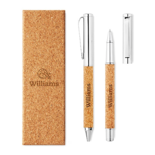 Metal Pen Set With Cork Barrel
