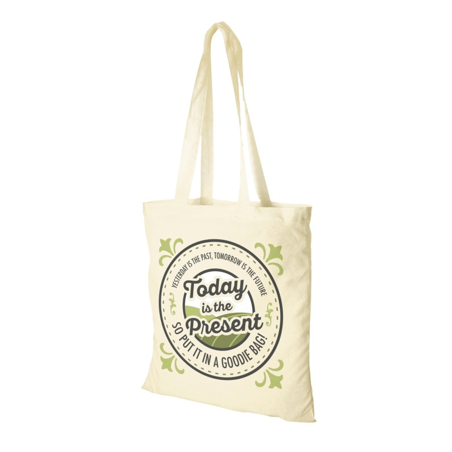 Natural Cotton Shopper Tote Bag