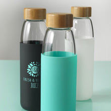 Load image into Gallery viewer, Kai Wood Lid Glass Sport Bottle 540ml