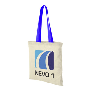 Nevada Cotton Tote with Coloured Handles