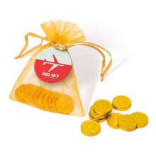Load image into Gallery viewer, Chocolate Coins Organza Bag