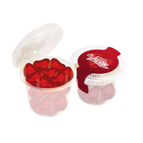 Eco Mini Pot Fruit Gum Hearts