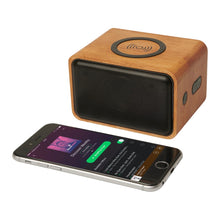 Load image into Gallery viewer, Wooden Speaker With Wireless Charging Pad