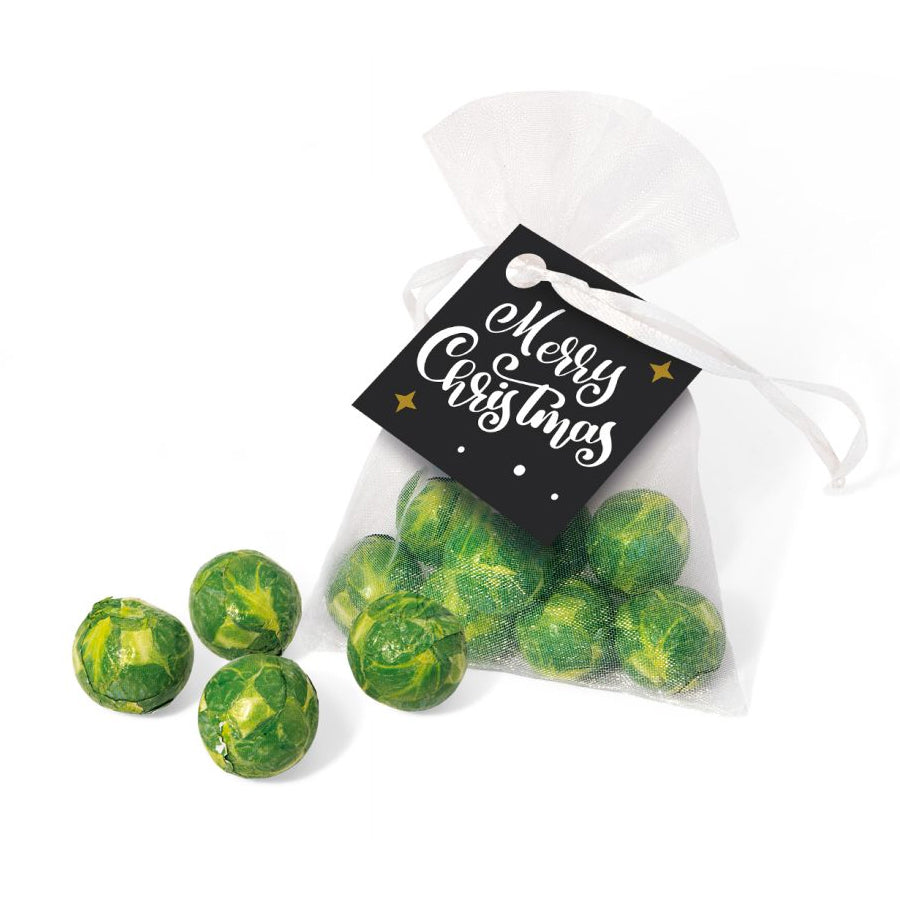 Chocolate Sprouts Organza Bag
